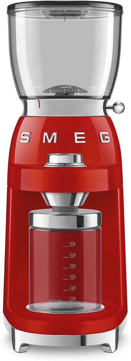 Smeg Denver Mall 50's Retro Style Aesthetic CGF01 Coffee We OFFer at cheap prices Grinder Red