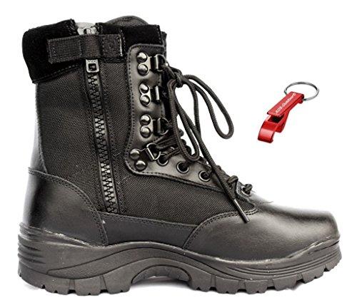AOS-Outdoor Tactical Boot mit YKK-Zipper Schlüsselanhänger schwarz 41