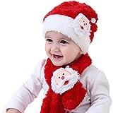 Morbuy Bufandas del Bebé, Christmas Winter Baby Kinder Mädchen Jungen Warme Santa Claus Strickmütze Schal Mützen Wolle Hüte