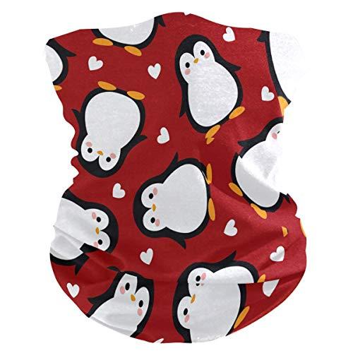 Diadema de pingüino, diseño de pájaro, corazón, cara de corazón, protección UV, protección solar, polaina, bufanda mágica, bandana para la cabeza, pasamontañas para mujeres y hombres