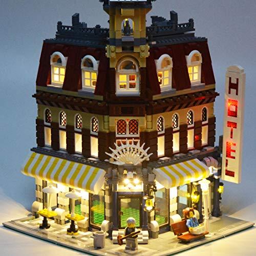 DOSGO Licht-Set Für Make & Create Cafe Corner Modell - LED Beleuchtung Light Kit Kompatibel Mit Lego 10182 (Modell Nicht Enthalten)