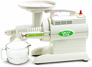 Tribest GS-1000 Greenstar Original Twin Gear Cold Press Maticating Juice Extractor, White