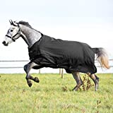 HORZE Nevada Medium Weight 1200D Waterproof Horse Turnout Blanket (200g Fill) - Nevada Black - 75'