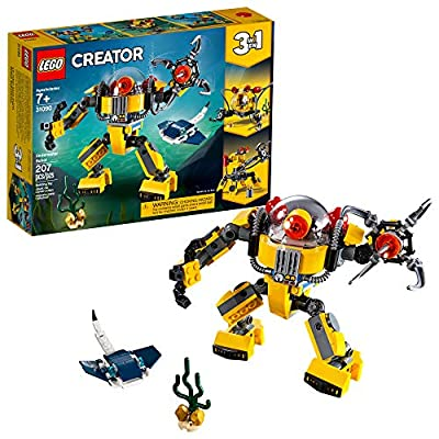 LEGO Creator 3in1 Underwater Robot 31090 Building Kit (207 Pieces) by LEGO