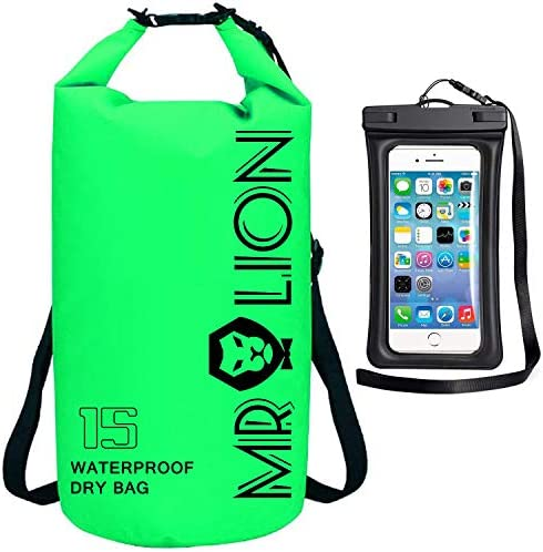 Waterproof Dry Bag Roll Top Dry Compression Sack Keeps Gear Dry for Kayaking Beach Rafting Boating product image