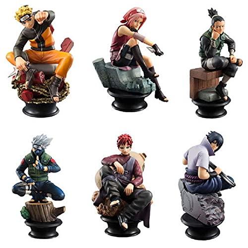 Dangli Figurine D Acción Naruto 8cm JOOTETS Uzumaki Naruto Hatake Kakashi Gaara Haruno Sakura Modèle Pour la Decoración