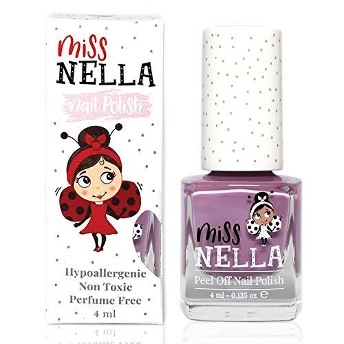 Miss Nella BUBBLE GUM- Spezieller Nagellack Lila für Kinder, Peel-Off-Formel, wasserbasiert und geruchsneutral
