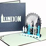 3D Pop Up Karte'London Calling!' - Klappkarte London - Streetlife & Skyline, Reisegutschein &...