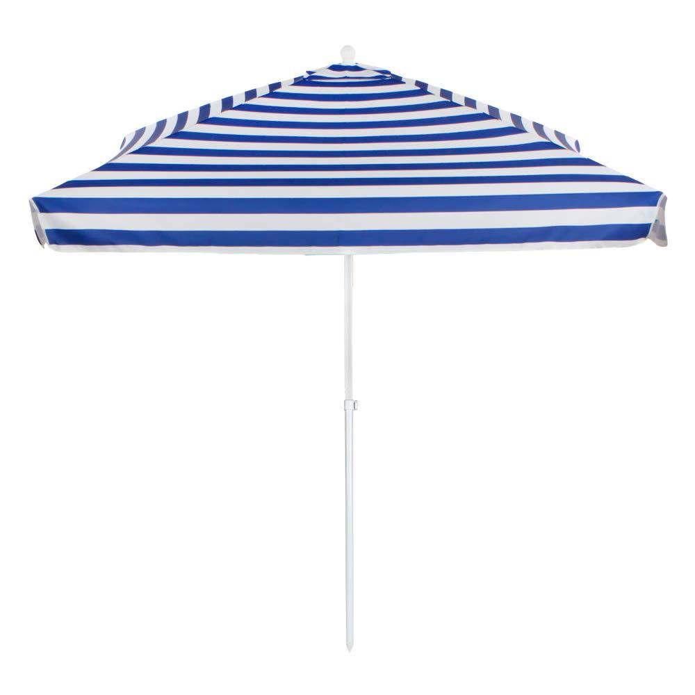 Aktive - Sombrilla cuadrada para playa a rayas 200 x 200 cm (53758): Amazon.es: Jardín