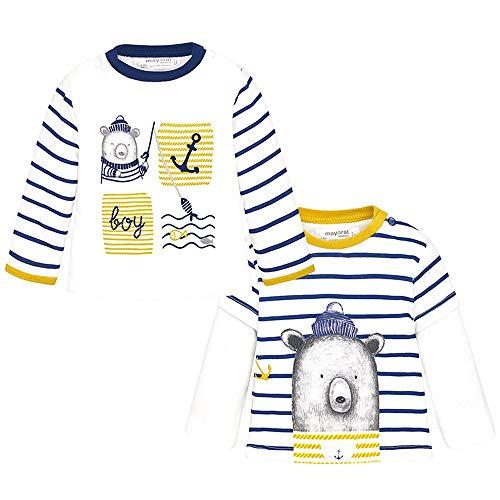 Mayoral Set 2 Camiseta m/l Bebe Niño 1-12 Meses (1/2 Meses)