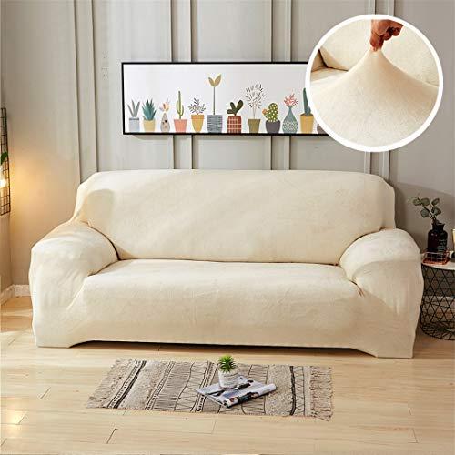 Mdsgfc - Funda de sofá de felpa gruesa para sala de estar, Color 5, 1-seater(90-140 cm)