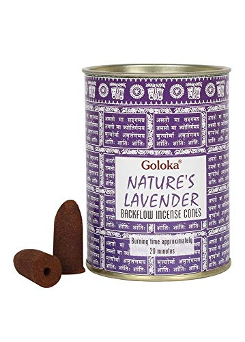 GOLOKA Nature's Lavender Backflow - Conos de incienso