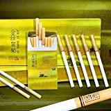 HUWOYMX Green Tea Herbal Cigarettes Peony Tea Smoke, Chinese Herbal Cigarettes Smoke-Free and Nicotine-Free, Cigarette Substitutes That Can Clean The Lungs (1 Package,Chrysanthemum)