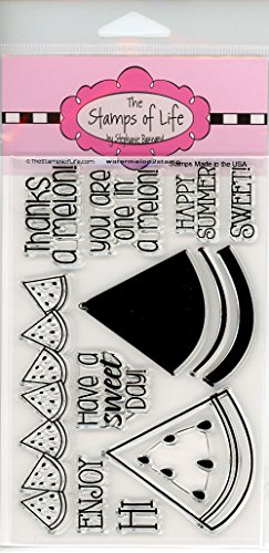 Watermelon Summer Party Stamps for Card-Making and Scrapbooking Supplies by The Stamps of Life - Watermelon2Stamp