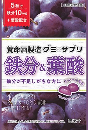 養命酒『グミ×サプリ鉄分&葉酸(6袋)』