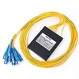 Divisor óptico digital, 1X8 SC/UPC Módulo divisor PLC de fibra óptica Módulo divisor PLC de modo único Audio de fibra para ingeniería de cableado doméstico