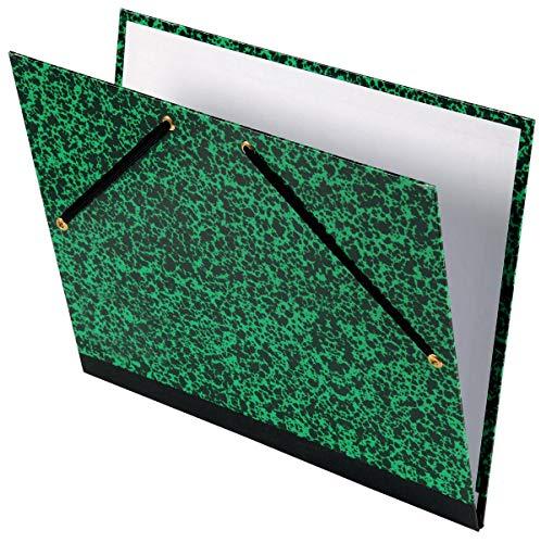 Carpeta Dibujo 37x52 cm, Canson Studio Marmol Verde, con Gomas