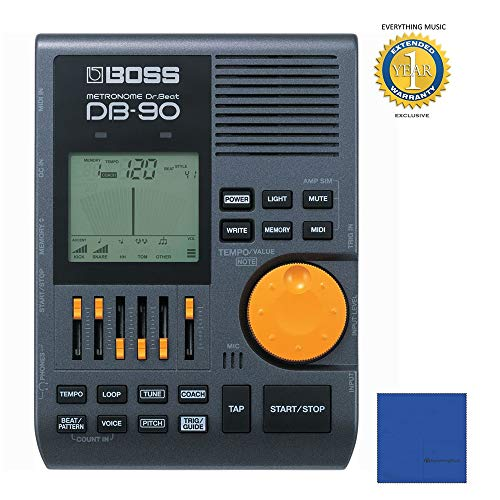 Boss DB-90 Dr. Beat Metronome with 1 Year EverythingMusic Extended Warranty Free