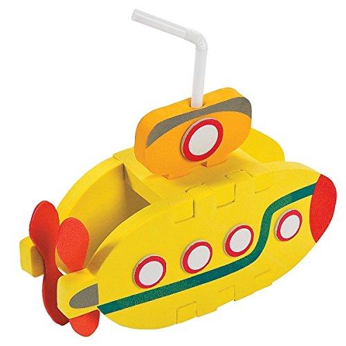 Elfen und Zwerge 6 x U Boot Schiff Tauchboot 3D Meer Urlaub Piraten Seeräuber Submarine Moosgummi Bausatz Mitgebsel Geburtstag Giveaway