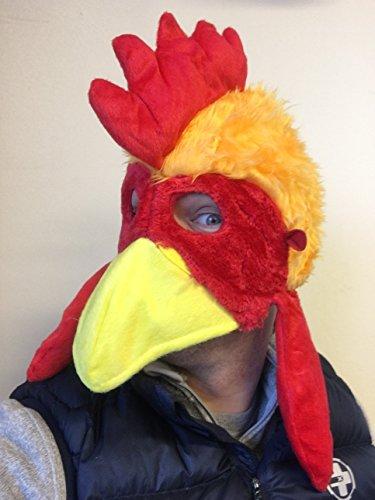 Rubber Johnnies TM Huhn Vogel Hut Maske Film Qualitätskostüm Farm Tiere