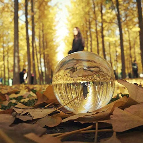 Tatayang K9 Kristallkugel, Clear Crystal Ball Klare Kugel Glaskugel Kugel, Klar Kristall Ball Globe für Feng Shui/Hellsehen oder Hochzeit/Haus / Büro Dekoration (110mm)