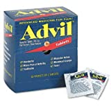 Advil Ibuprofen Individually Wrapped Medication, 50 Doses of Two Tablets, 200 mg (Pack of 2)