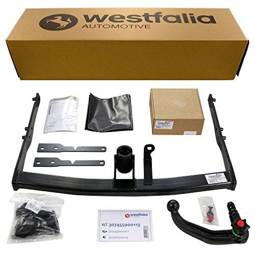 Westfalia abnehmbare Anhängerkupplung für Ford Mondeo Turnier (BJ 06/2007 - 12/2014) im Set mit 13-poligem fahrzeugspezifischen Westfalia Elektrosatz