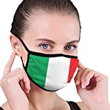 屋外口フェイスマスクイタリア国旗アンチダストハーフフェイス用キッズティーン男性女性愛好家防塵調整可能な耳ループ