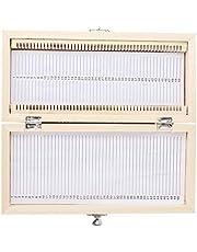 Caja de almacenamiento de portaobjetos de madera, Akozon 50PCS Biología Vidrio preparado Microscopio Portaobjetos Muestras Caja de almacenamiento de portaobjetos de madera