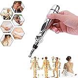 Penna per Agopuntura,Zeerkeer Elettrica Bacchetta per Digitopressione Pen Agopuntura Senza ago con Massaggio Terapeutico per Alleviare il Dolore e Rilassare Muscoli