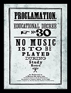iPosters Harry Potter Proclamation No.30 Framed 30 x 40 Official Print - Overall Size: 36 x 46 cm (14 x 18 inches) Print Size: 30 x 40 cm