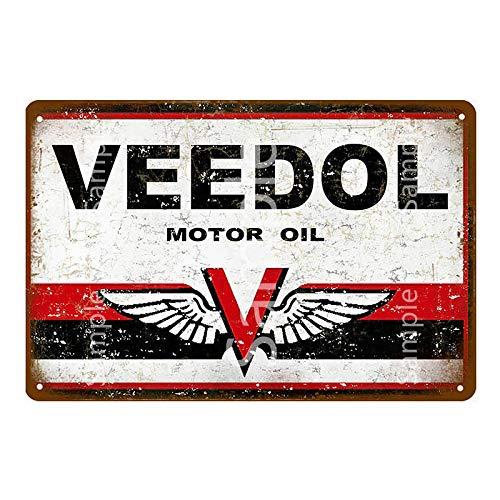 ayingzhenxiao Retro Motor de Gasolina Aceite Esso Metal Cartel de Chapa Garaje gasolinera Pared Art Deco Metal Cartel 20x30cm YD11816L