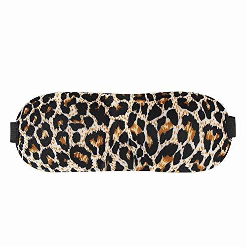 Denise Lamb Schlafmaske Für Männer Und Frauen, Schlafaugenmaske, Komfortable 3D-Kontur-Schlafmaske Und Augenmaske Mit 100{38599e0833a6bf15e3d59e627d99b238f72cb54b2adf6f1a59967d74fcc2eef8} Verdunkelungsschutzbrille,Leopard
