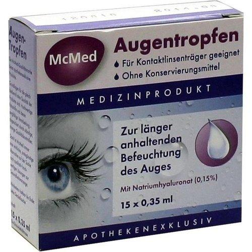 MCMED Augentropfen Einzeldosispipetten 15X0,35 ml