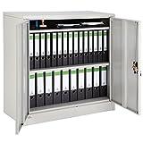 TecTake Armario archivador de Oficina metálico con 2 Puertas bloqueable e estantes - Varias tamaños - (90x40x90cm | no. 402486)