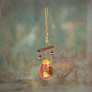 Aakriti Art Creations Colourful Hanging Bird Feeder (5x5x23)