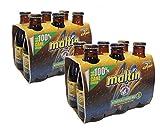 Cerveza rubia Polar Malta sin alcohol botella 20,7 cl. pack 12