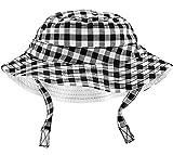Carter's Boys UPF Bucket Hat (Black Gingham, 12-24 Months)