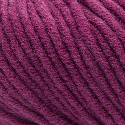 ggh Aspen   Misto Lana Merino, gomitolo da 50 g, Adatto per Maglieria e Uncinetto   Colore 080 - Rosa Amethyst