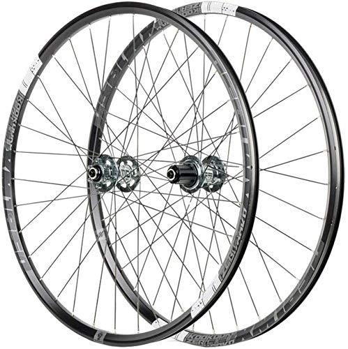 ZHTY Juego de Ruedas de Freno de Disco para Bicicleta MTB de 26/27.5', Doble Pared, aleación de Aluminio, liberación rápida, buje de cojinetes híbridos/de montaña, 8/9/10/11, Ruedas Delanteras y Tras
