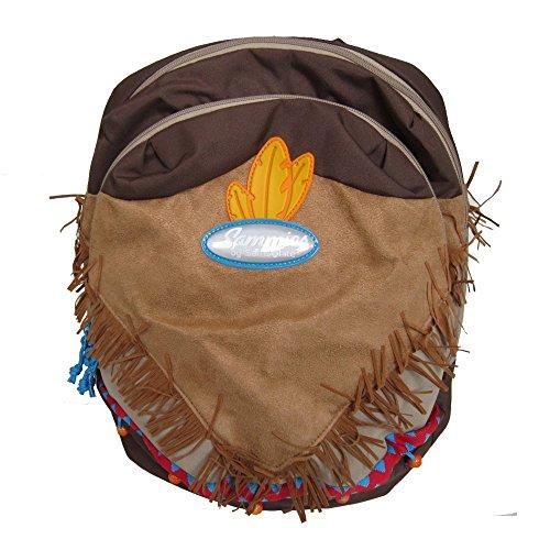 Samsonite Sammies 'Wigwam' Kinderrucksack dunkelbraun/braun/khaki, Farbe:Braun