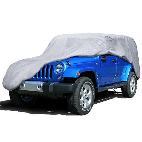 BDK Motor Trend Outdoor Cover for Jeep Wrangler 4 Door, All Weather Water Proof