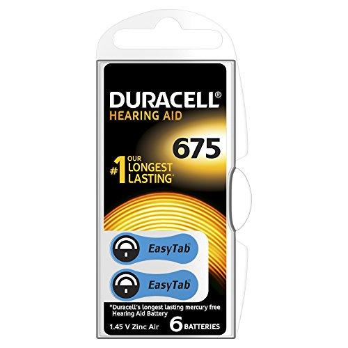 Duracell - 75072649 - Pile Auditive Easy Tab - 675 Bleu - Pack de 6