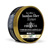 OGX Low Shine Bamboo Fiber Texture Flexible Fiber Wax, (64042) Sandalwood, 3 Ounce