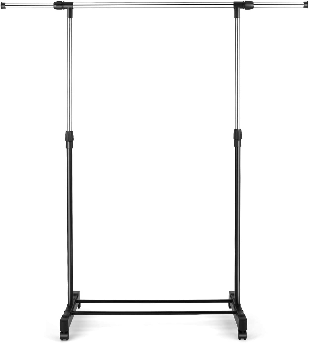 Devo Removable Single Rail Garment Adjustable Sale item Cloth Rack Hanging OFFicial site