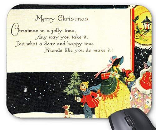 Mausmatte 1920er weihnachtskarte weihnachtsbäume design mauspad