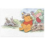 Anti Slip Bath Mat Bathroom Rug (15.7 X 23.6 In) Extra Soft And Absorbent Pvc Rugs, For Shower Room Bedroom And Kitchen Carpet, Disney Winnie Pooh And Pigle Easter Egg