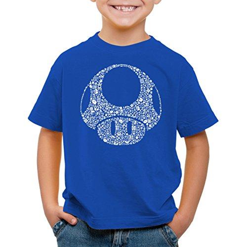 A.N.T. Another Nerd T-Shirt A.N.T. Super Toad Play Kinder T-Shirt Mario Pilz Game Gamer, Farbe:Blau;Größe:140