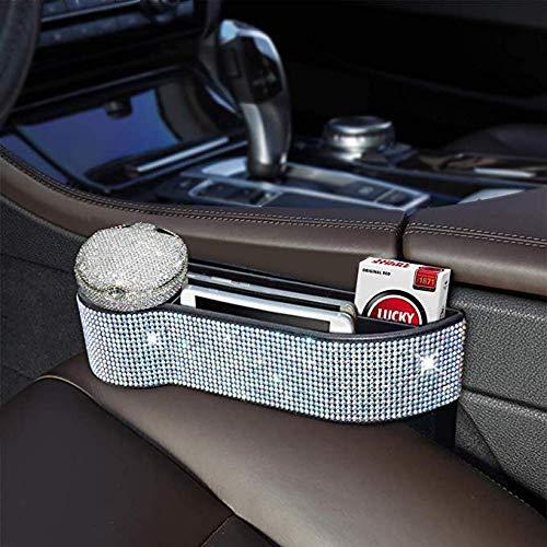 eing Car Seat Side Drop Organizer,Side Slit Car Seat Gap Filler,Car Seat Console Storage Organizer,Bling Car Seat Pockets with Cup...