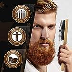 Bossman Boar and Nylon Bristle Hair and Beard Brush - Detangles & Straightens - Wooden Oval Wet Brush for Men 8